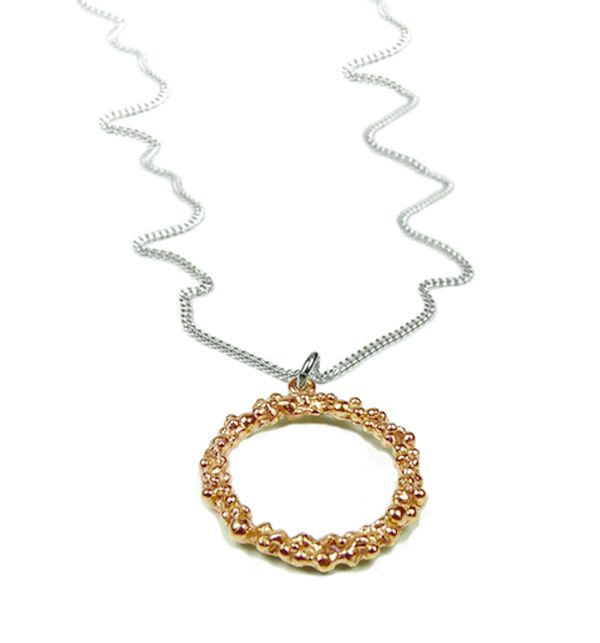 Rose Gold Vermeil Drop Pendant