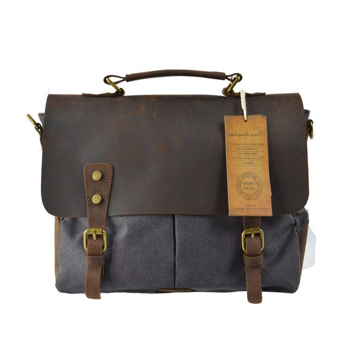 Canvas tecka 2 tasche London Smoke
