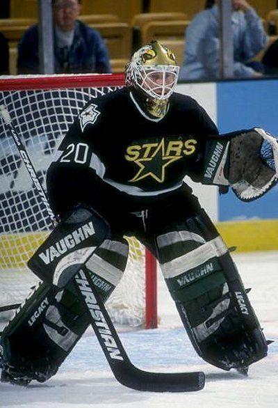 """Eddie """"The Eagle"""" Belfour! And that jersey Eddie's wearing here is my favorite Sweater that the Stars have worn since coming to Texas."""