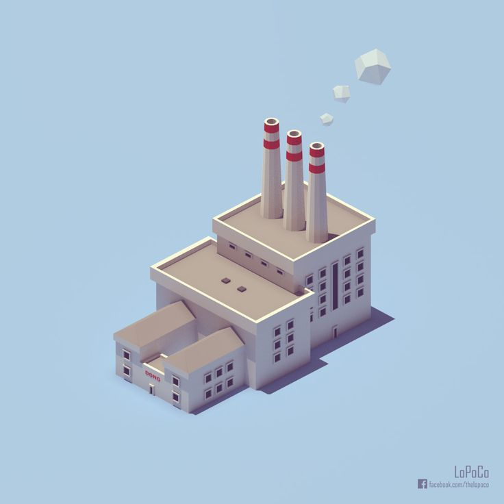Baby Svanemøllen power station. Inspired by Pixego's awesome isometric work.