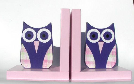 Owl Bookends Childrens Room Decor Book Holder by KettmanWoodCrafts, $35.00