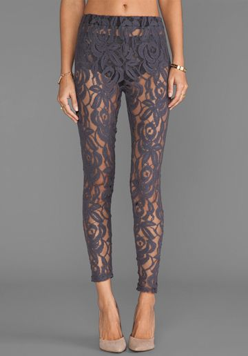 LISA MAREE Hunting Begins Lace Leggings in Acid Black at Revolve Clothing - Free Shipping!