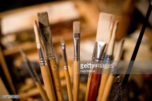 Stock Photo : paint brushes