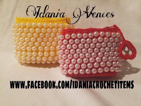 Monedero estilo vintage en punto alto en relieve, con perlas. Nivel Principiante - YouTube