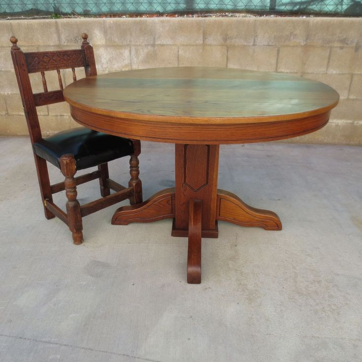 best 25 round oak dining table ideas on pinterest refurbished dining tables oak furniture house and distressed tables - Oak Round Dining Table