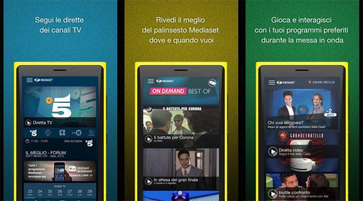 L'app ufficiale Mediaset per Windows Phone riceve un nuovo aggiornamenti  http://www.sapereweb.it/lapp-ufficiale-mediaset-per-windows-phone-riceve-un-nuovo-aggiornamento/        Mediaset Mediaset è l'applicazione ufficiale dell'omonima rete televisiva che permette di guardare tutte le dirette, consultare la guida TV, rivedere i propri programmi preferiti e molto altro.  L'app Mediaset in queste ore ha ricevuto un aggiornamento che spinge la propria versio...