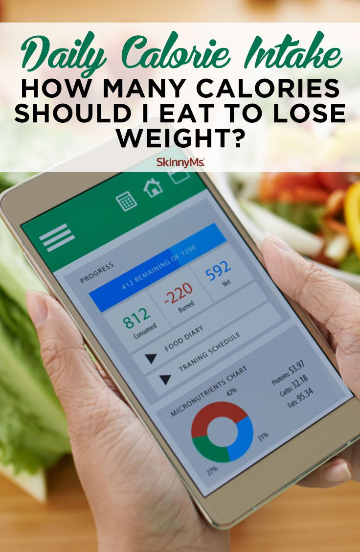 daily calorie intake: how many calories should i eat to lose weight