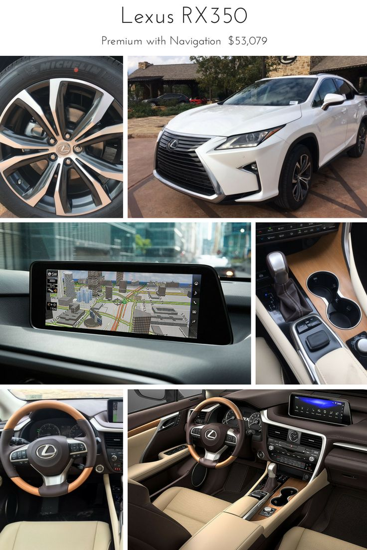 2017 Lexus RX350 with Premium Package and Navigation.