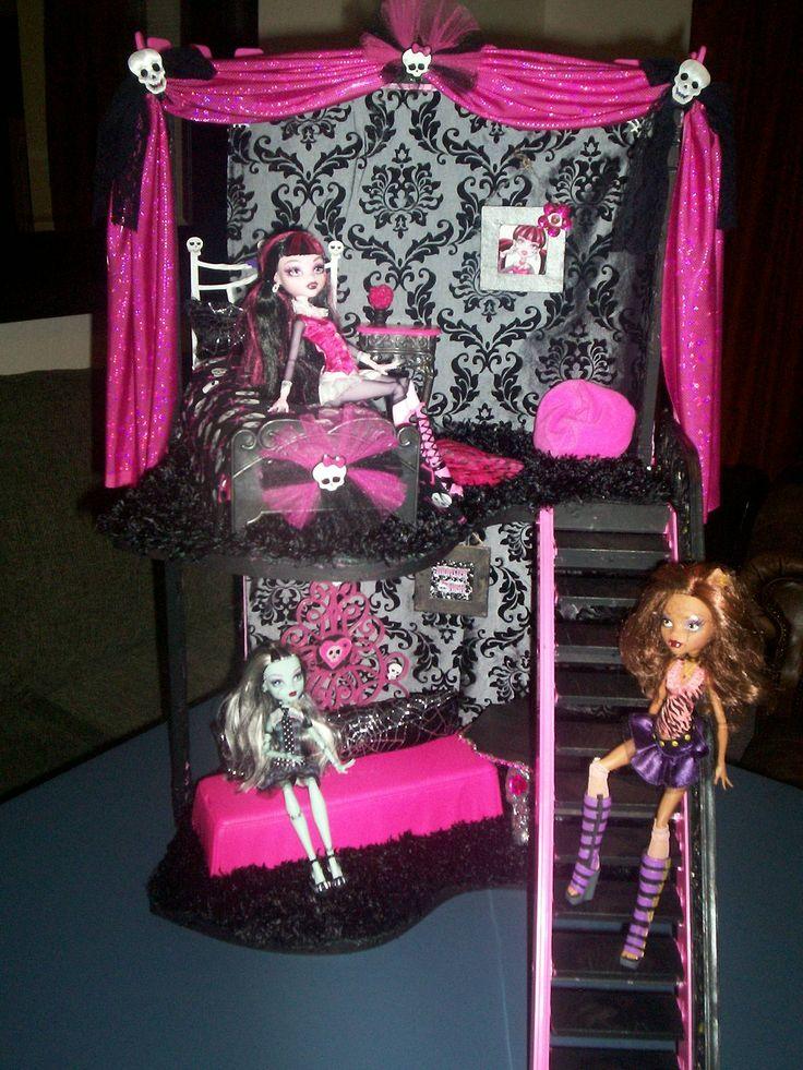 monster high doll house idea                                                                                                                                                                                 More