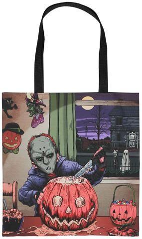 Horror Decor - Pumpkin Carver Tote Bag