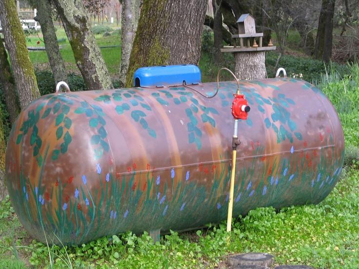 painted propane tank crafty garden treasures