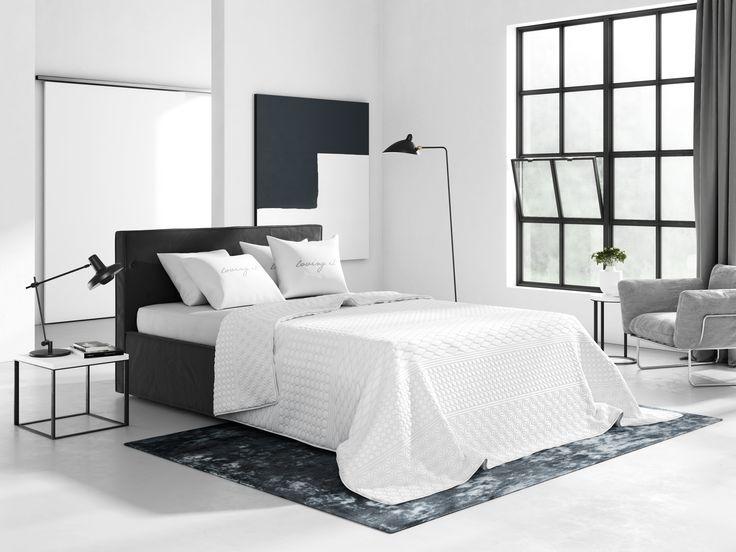Elegantní prošívané přikrývky na postel v bílé barvě