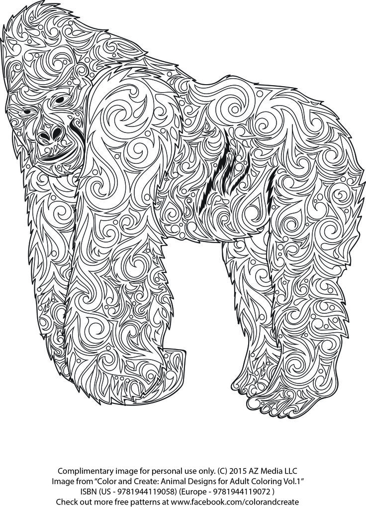design coloring pages of animals - photo#48