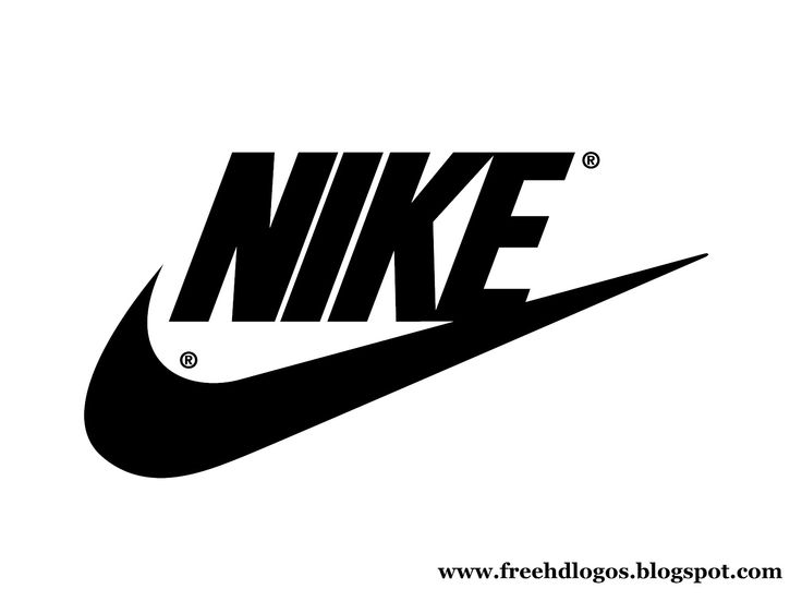 Nike Black and White Swoosh Logo Decal Sticker
