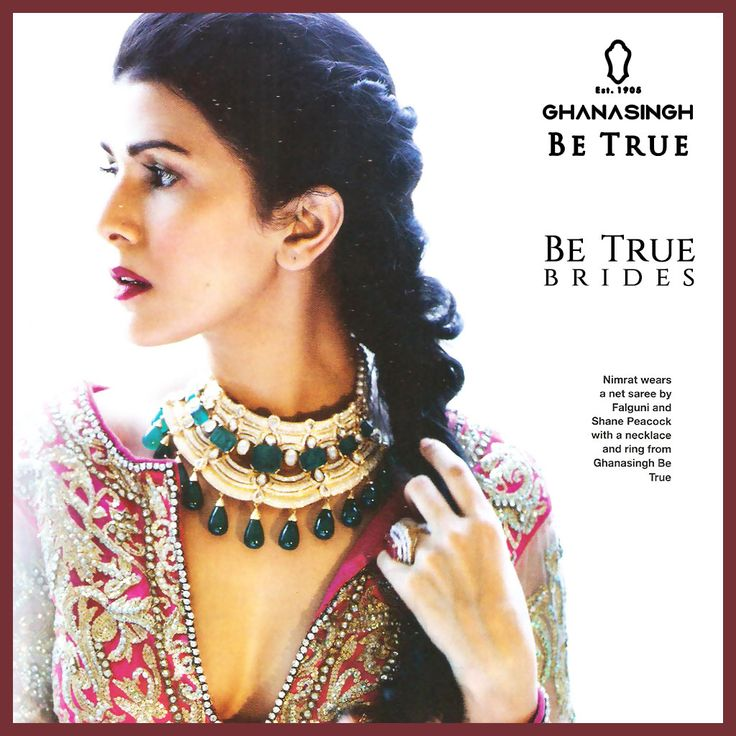 #BeTrueBrides of today choose to flaunt a mix of trending vibrant gemstone studded chokers with a tinge of their own style, like the mesmeric Nimrat Kaur.