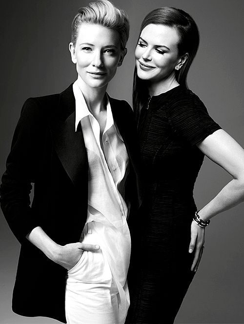 Cate Blanchett and Nicole Kidman. Being more gorgeous than possible.