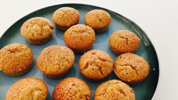 These incredibly moreish apple and cinnamon doughnut muffins are fluffy inside and crunchy on top. The apple sauce is not only an effective egg substitute, but it complements the cinnamon perfectly. They store well in the freezer (if they last that long), make a great lunchbox treat, and are easy to make. Mmmm...doughnuts!