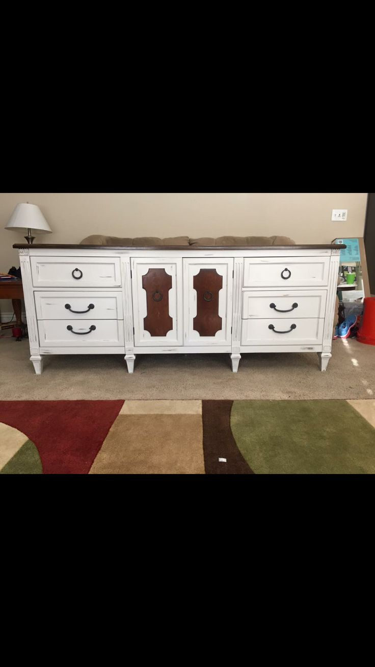 Superb Facebook: Brayu0027s Boomu0027n Furniture Refinished Grey Dresser With Stained Top  And Drawer Fronts