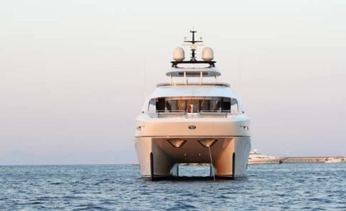 Spotlight on: 34m Quaranta Catamaran Motor Yacht by Curvelle.  The yacht is wheelchair accessible thanks to a lifting platform (also for mini subs, tenders and vehicles) enough space inside and an elevator.  http://www.yachtemoceans.com/curvelle-quaranta-catamaran  #catamaran #ship #yacht #jacht #motoryacht #quaranta #curvelle #boat #boot #superyacht #megayacht