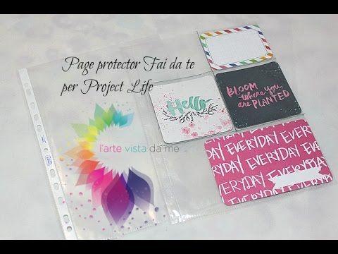 ▶ Project Life: Page Protector Fai da te-DIY -Scrapbooking Tutorial - YouTube