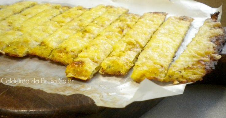 """Receitas do Caldeirão da Bruxa Solar: """"Pão"""" palito de couve flor e queijo ~ sem glúten"""