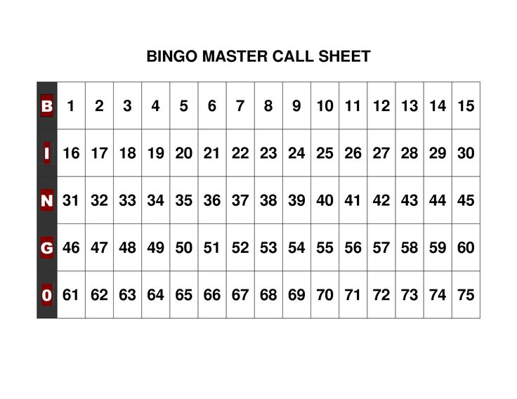 50 free printable bingo cards