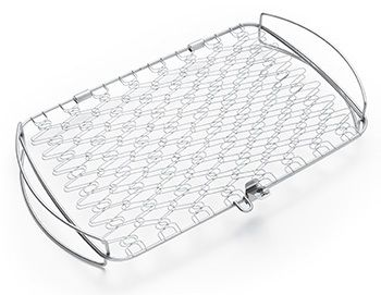 The flexible stainless steel basket lets you easily turn your fish without it falling apart on the grill.