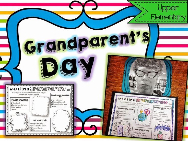 Grandparent's Day in Upper Elementary! FREEBIE!