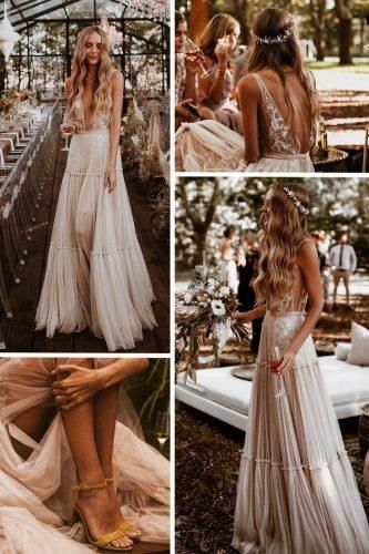 Boho Wedding Dresses Of Your Dream  Wedding planning ideas & inspiration. Wedding dresses, decor, and lots more. #weddingideas #wedding #bridal