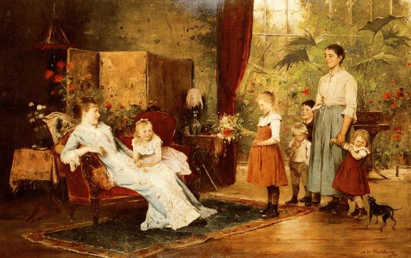 The Fete Of The Lady Of The Manor ~ Mihály Munkácsy ~ (Hungarian, 1844-1900)