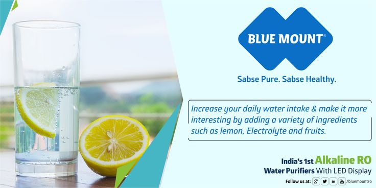 Increase your daily water intake & make it more interesting by adding a variety of ingredients such as lemon, Electrolyte and fruits. visit us www.bluemountro.com