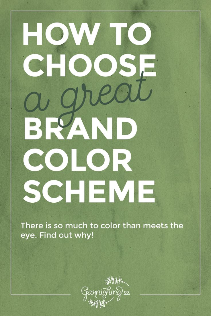 How to choose a great brand color scheme that fits your blog or business. | Garnishing Co.
