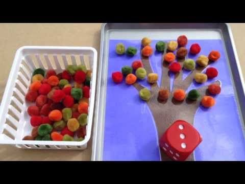 """Dice Game, """"Fall Tree Roll & Remove"""" (from Childcareland)"""