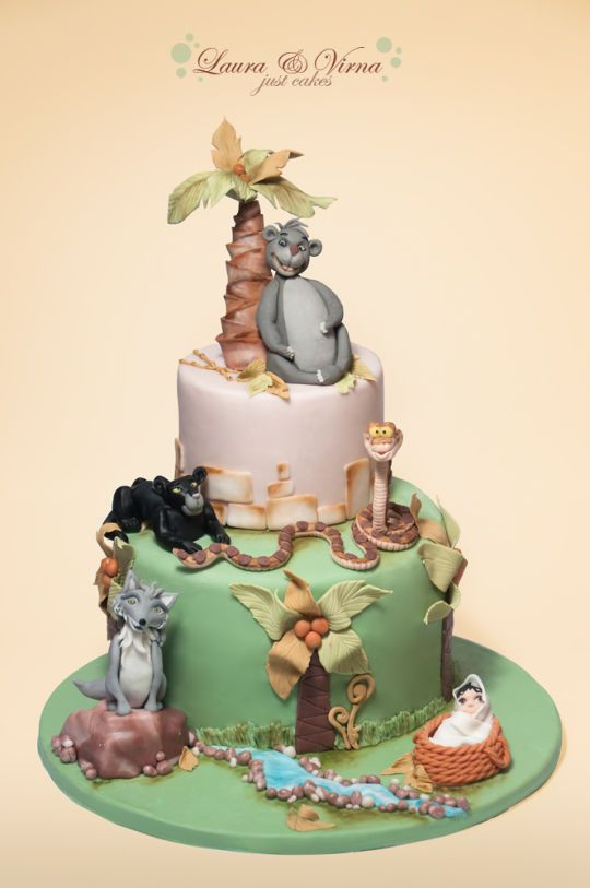 46 best Disneys Jungle Book Cakes images on Pinterest Book cakes