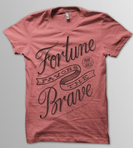 Fortune Favors the Brave T-Shirt - Heather Red by DSF Clothing Company and Art Gallery on Scoutmob Shoppe