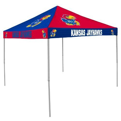 NCAA Kansas Jayhawks 9-Foot x 9-Foot Pinwheel Tailgating Canopy, Blue/Red by Logo. $219.95. Heavy duty carrying case with rollers is included; Durable steel frame is finished with a weather resistant powder coat paint; 9-foot x 9-foot pop-up team color polyester Canopy is ideal for game day; Team logo is featured on all four sides; Retracts to four feet for easy storage and travel. Please Note: Due to the size of this item, it is not eligible for Expedited shippi...