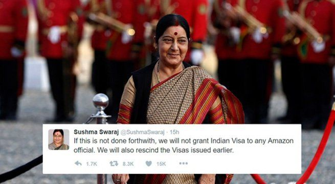 Amazon Removes Indian Flag Doormat From Website afterExternal Affairs Ministers Tweet   Soon after India threatened of not granting Indian Visa to any Amazon official if the company did not withdraw an Indian flag-themed doormat from its Canadian platform the e-commerce website removed the article from the online marketplace.  A spokesman for Amazon based at its headquarters in Seattle contacted The Washington Post to say that the doormat was no longer for sale on its website.  External…