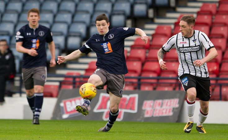 Queen's Park's Conor McVey in action at the Scottish Cup 3rd round game between Queen's Park and Dunfermline Athletic.