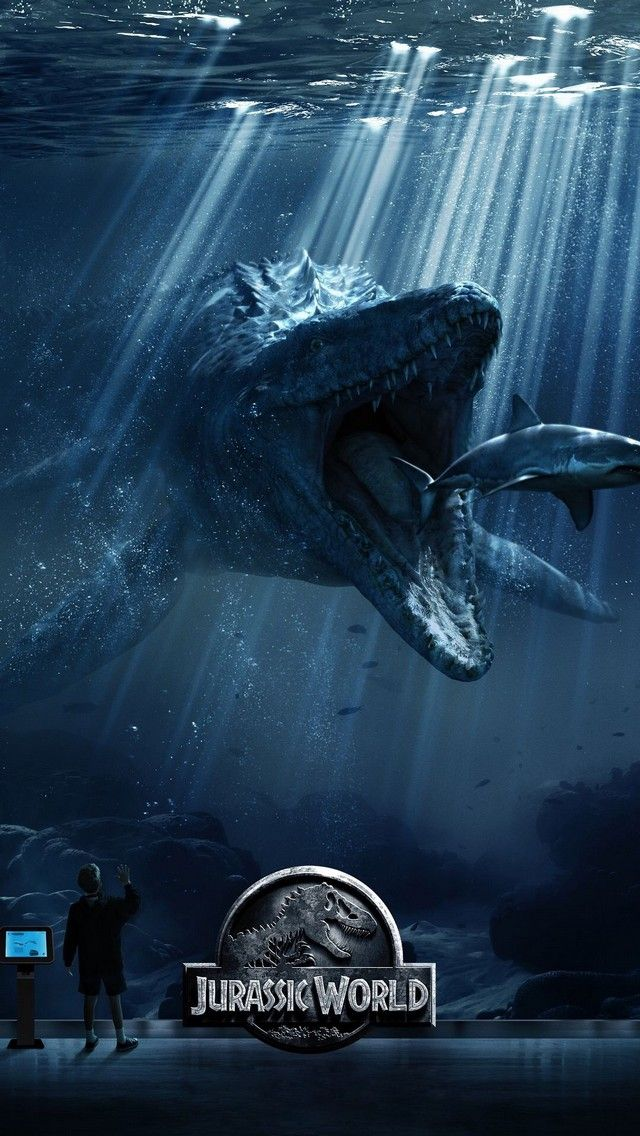 Jurassic World poster. Tap to check out 15+ Awesome Jurassic World Movie iPhone Wallpapers! - jurassic park, dinosaurs, t-rex - @mobile9 - #jurassicworld