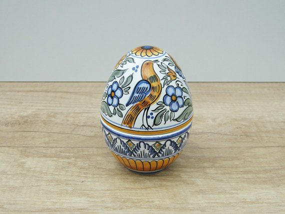 Flower and Bird Egg Bonbonniere. Haban Ceramic. by HabanCeramic, $30.00