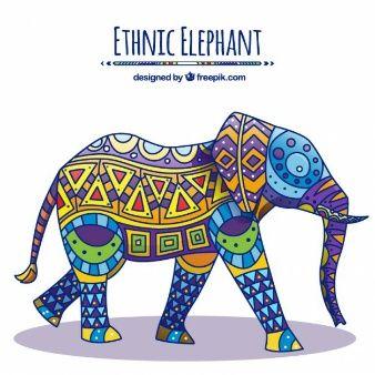Native decorated elephant