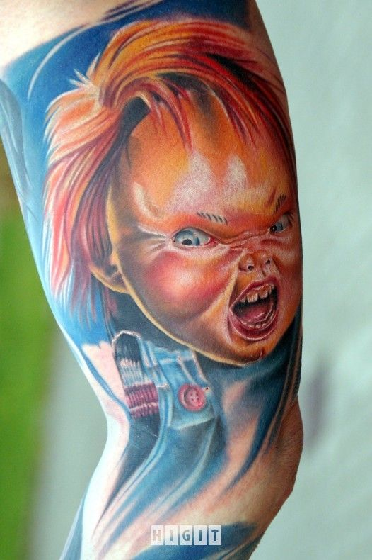 Realistic Coloring Of Chucky: 152 Best Chucky Tattoos Images On Pinterest