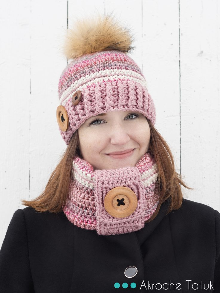 Patron tuque et cache-cou au crochet   Crochet pattern hat and cowl
