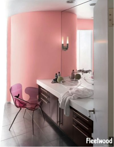 soft pink can light and warmth to a bathroom available from the fleetwood paintu0027s popular