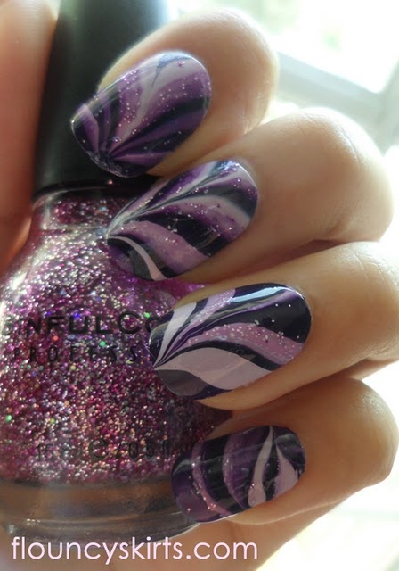 Marble nails!