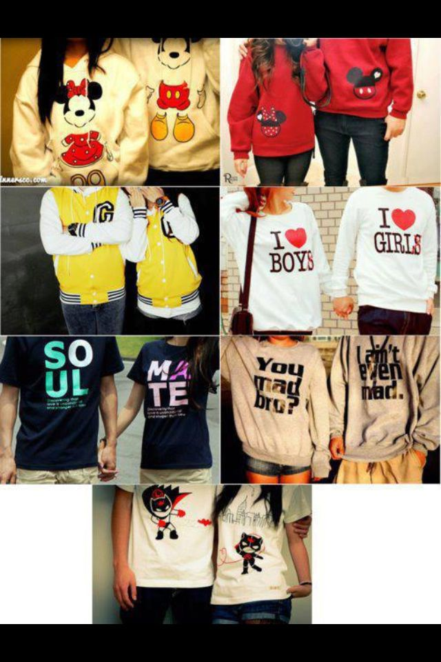 I WANT ALL OF THESE WITH MY BOYFRIEND !?! adorable