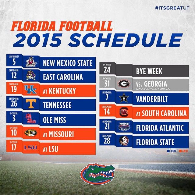 2015 Florida Football Schedule