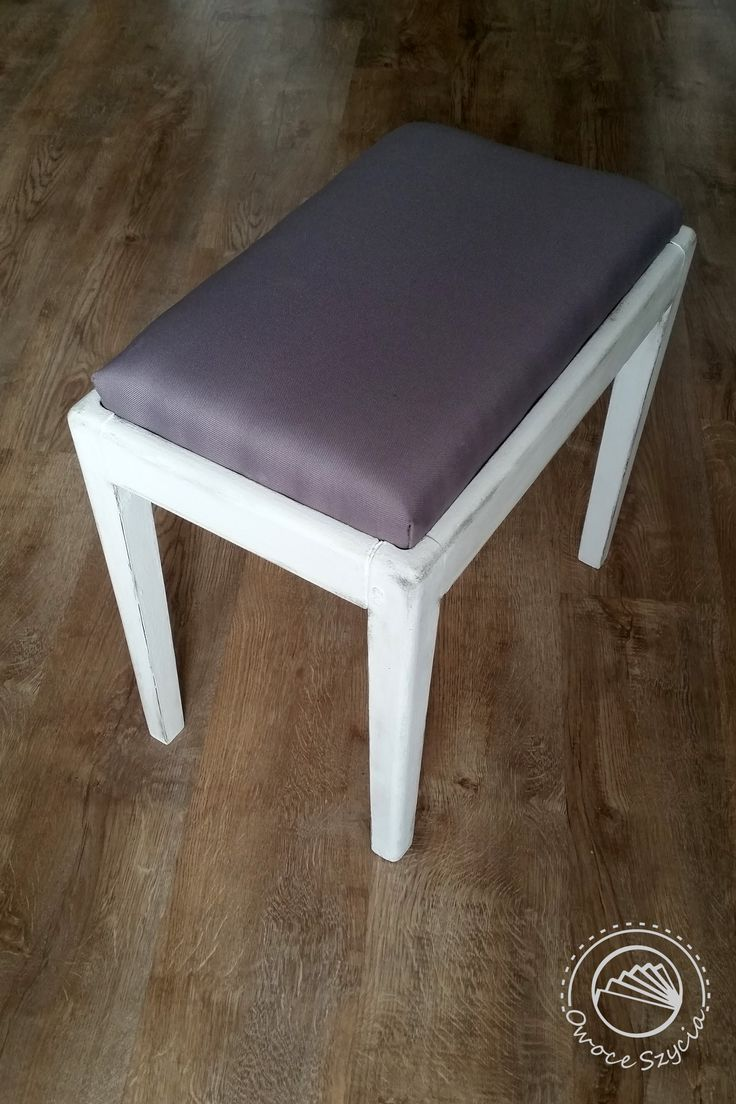 renovated chair (upholstered and white-painted) @meblovekreacje