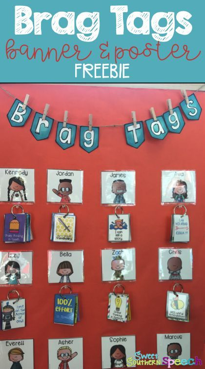 Do you use Brag Tags in your room? Download this FREE banner and poster available to print in various sizes! Perfect to display in your classroom.