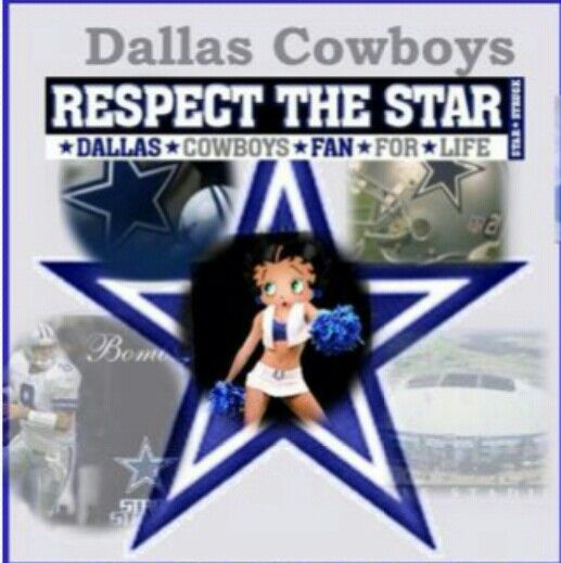 Dallas Cowboys Betty Boop